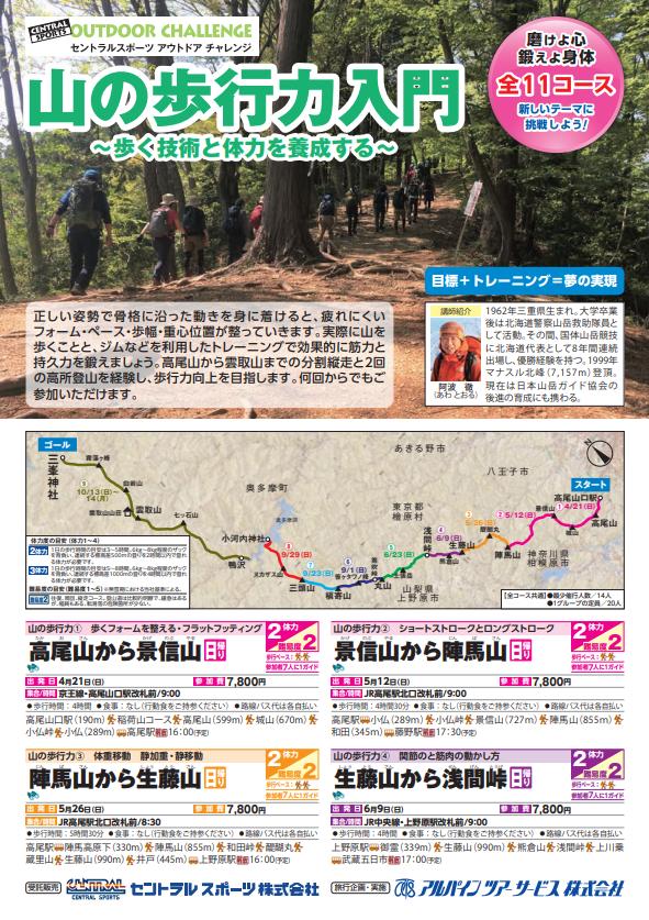 【2019年4~10月】ハイキング・山の歩行力入門